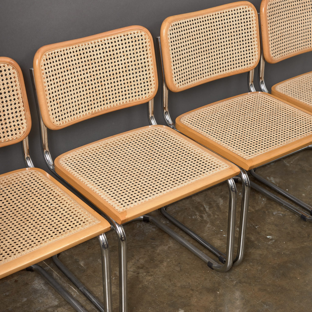 Set of 4 rattan Cesca chairs,-132228