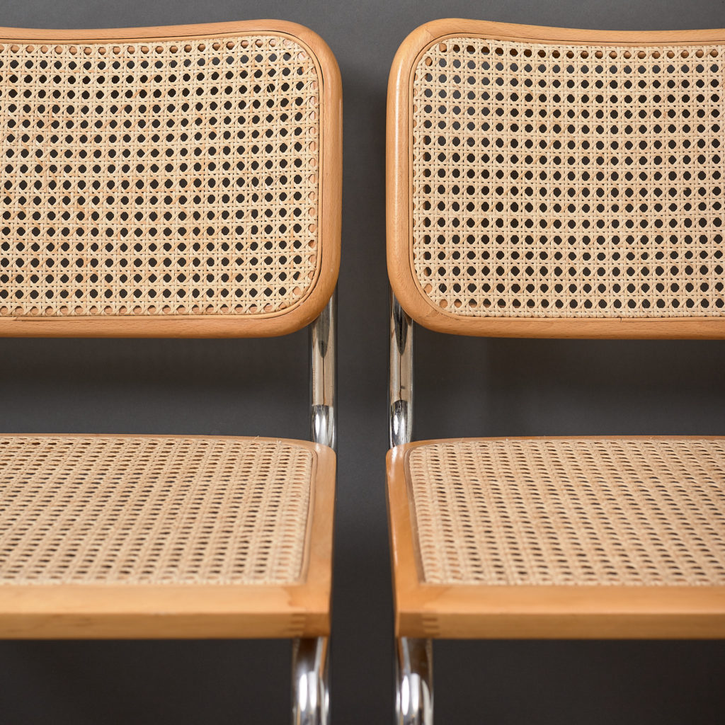 Set of 4 rattan Cesca chairs,-132230