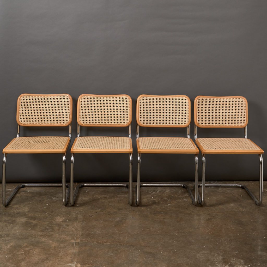 Set of 4 rattan Cesca chairs,-132231