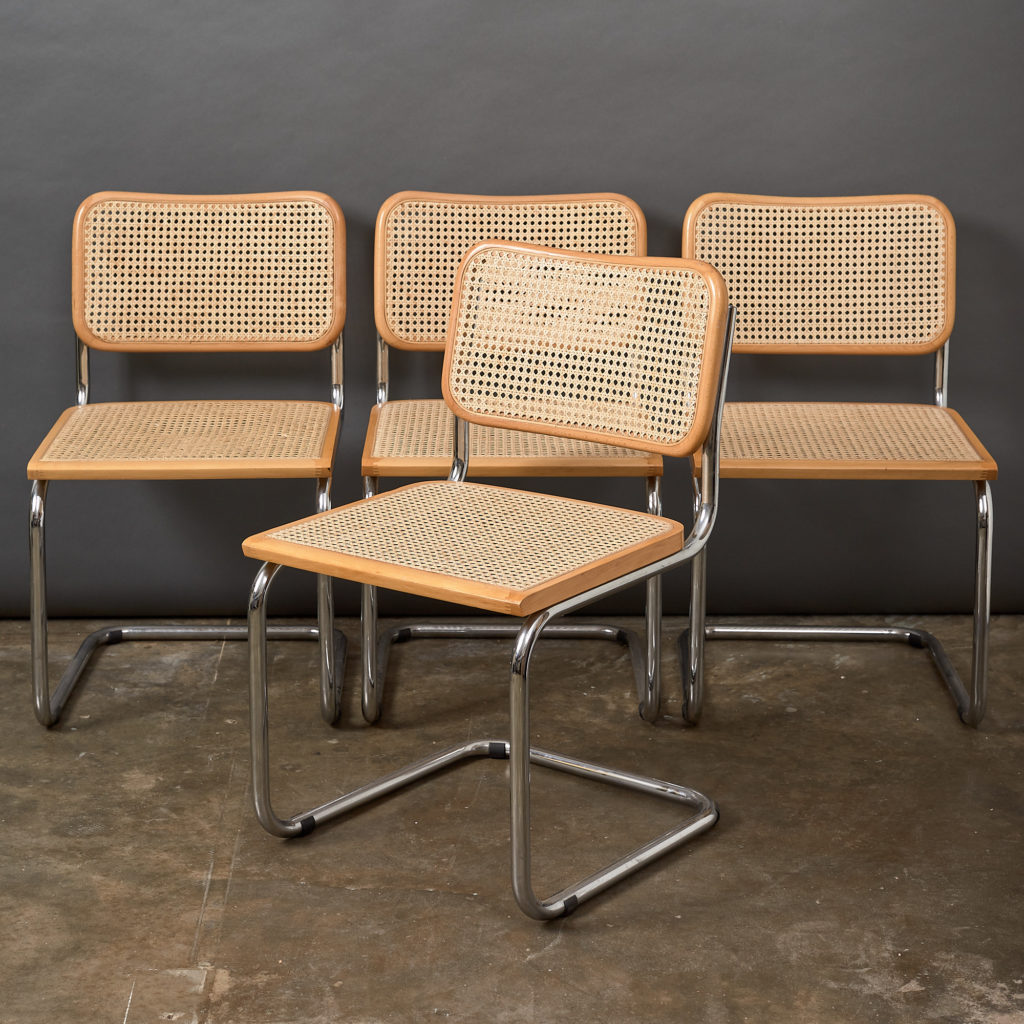 Set of 4 rattan Cesca chairs,-0