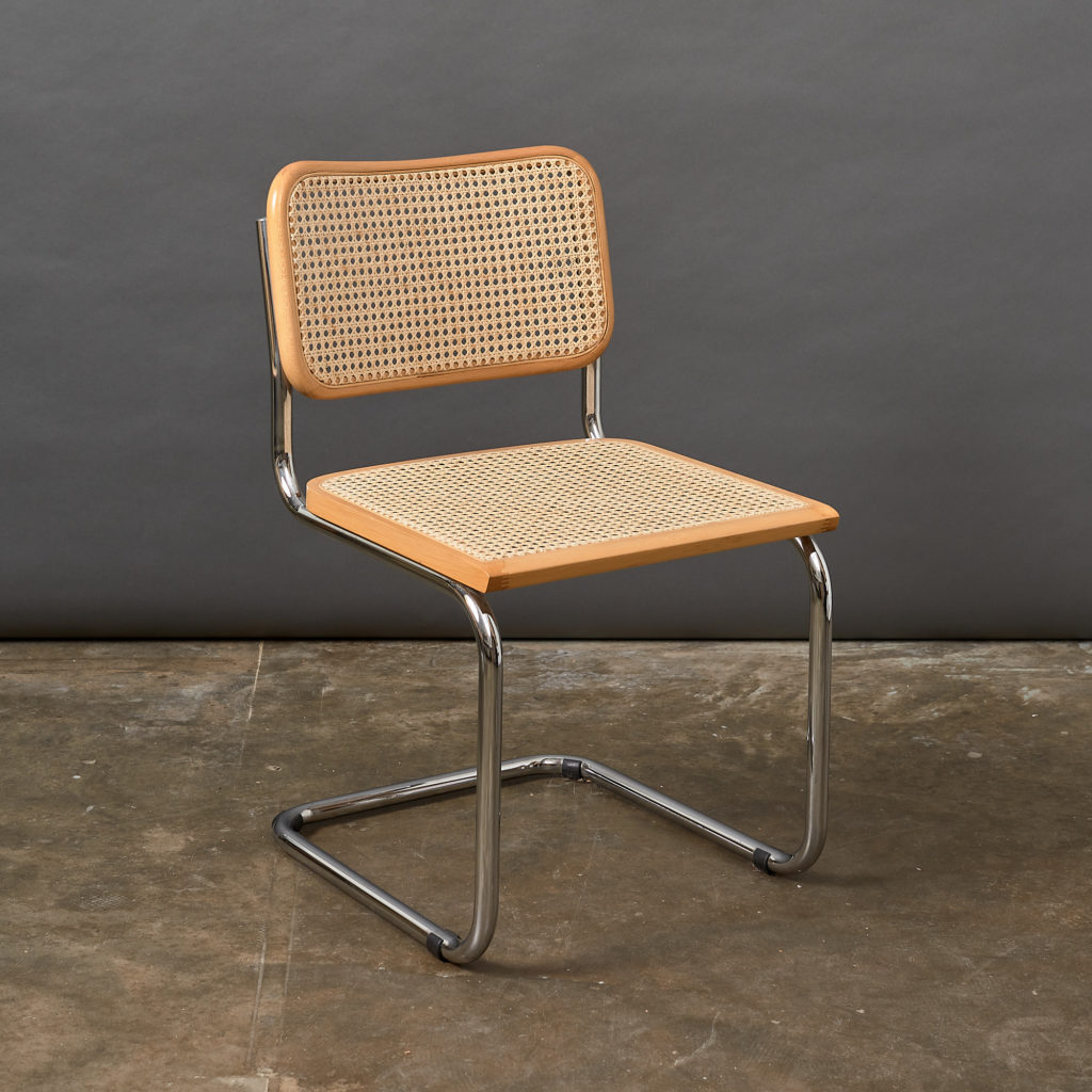 Set of 4 rattan Cesca chairs,-132233