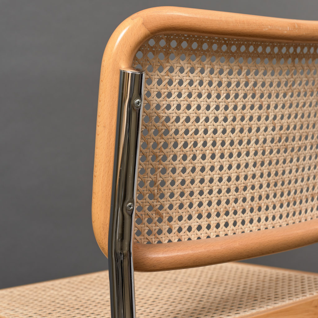 Set of 4 rattan Cesca chairs,-132236