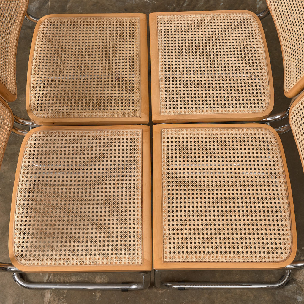 Set of 4 rattan Cesca chairs,-132240