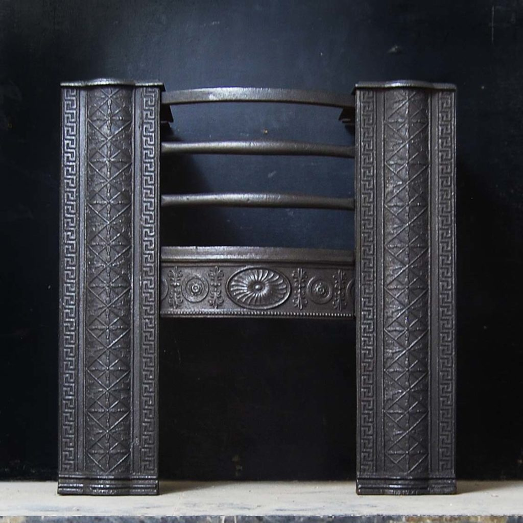 A George III cast iron hob grate-0