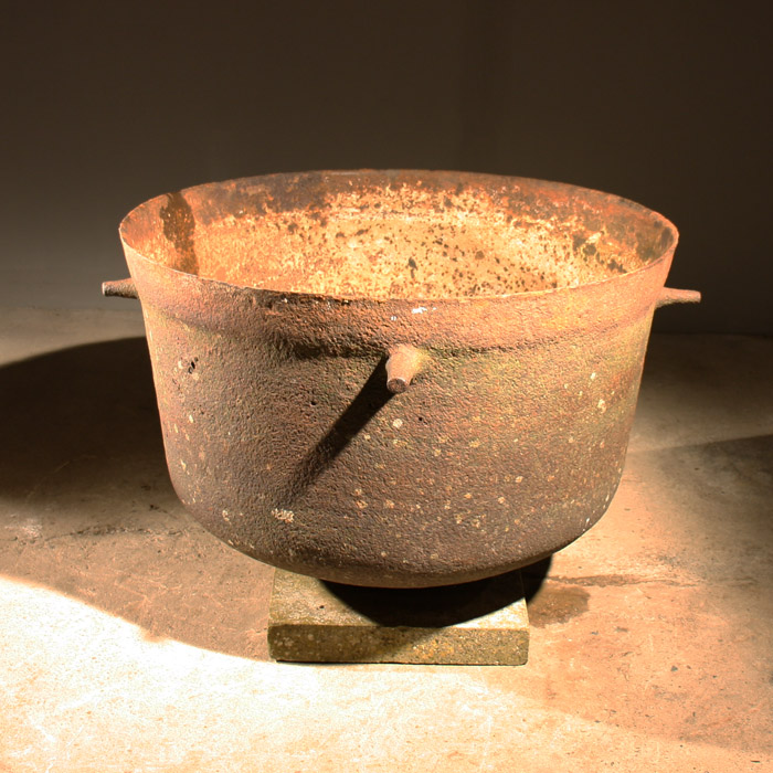 A Victorian cast iron industrial cauldron,-132107