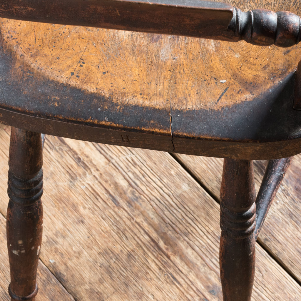 Pair of mid-nineteenth century Thames Valley Windsor chairs,-131999