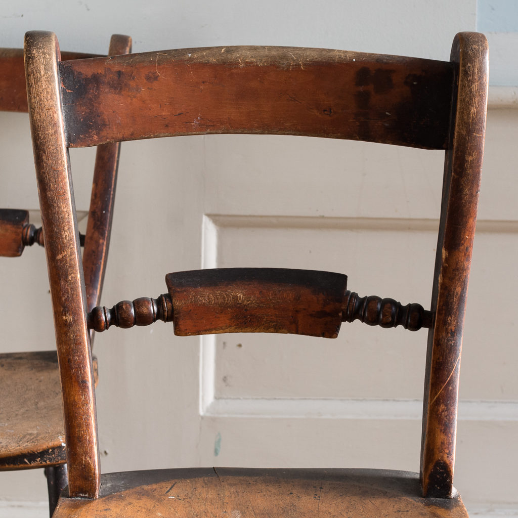 Pair of mid-nineteenth century Thames Valley Windsor chairs,-131992