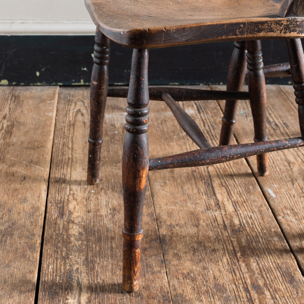 Pair of mid-nineteenth century Thames Valley Windsor chairs,-131993