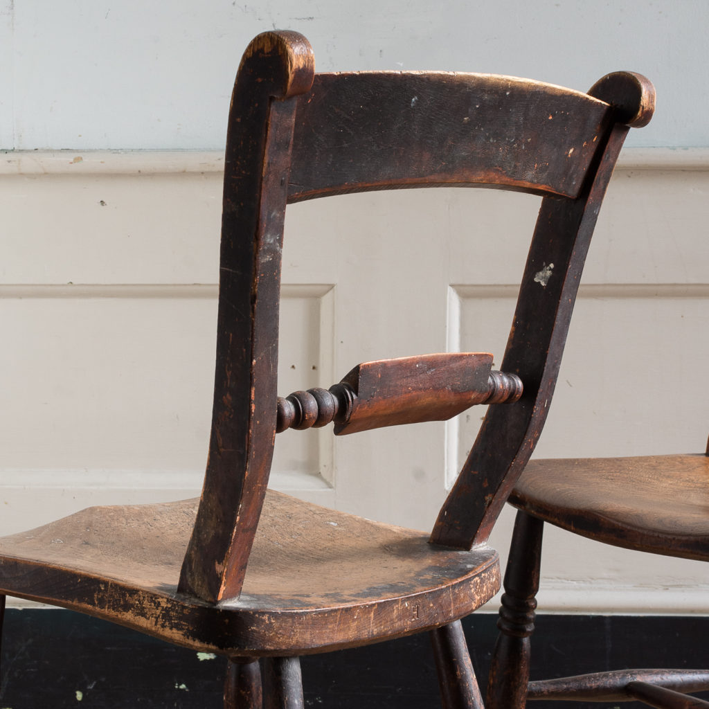 Pair of mid-nineteenth century Thames Valley Windsor chairs,-131994