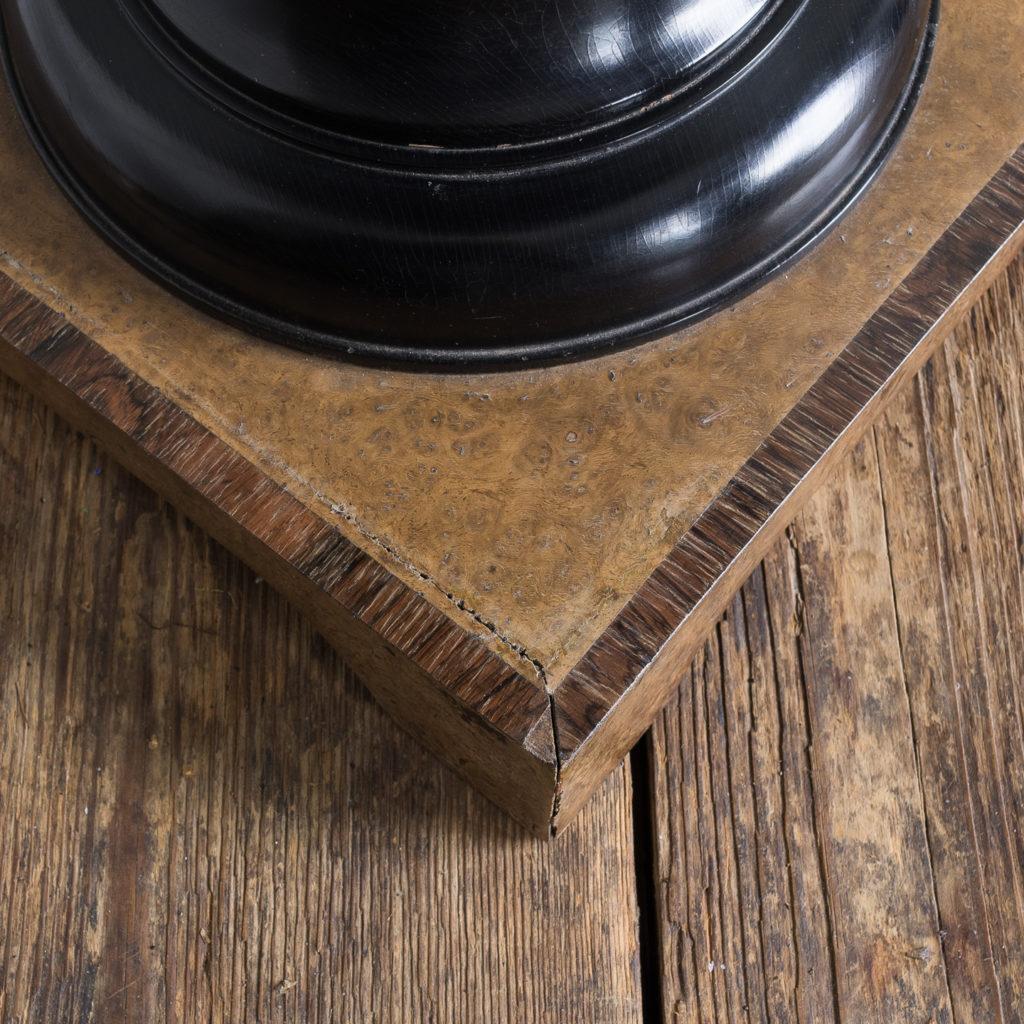 Regency style pollard oak, ebony and rosewood occasional table,-132342