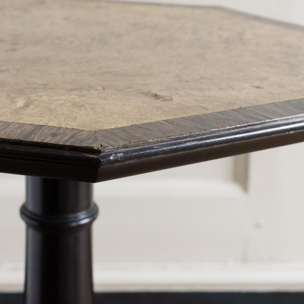 Regency style pollard oak, ebony and rosewood occasional table,-132344