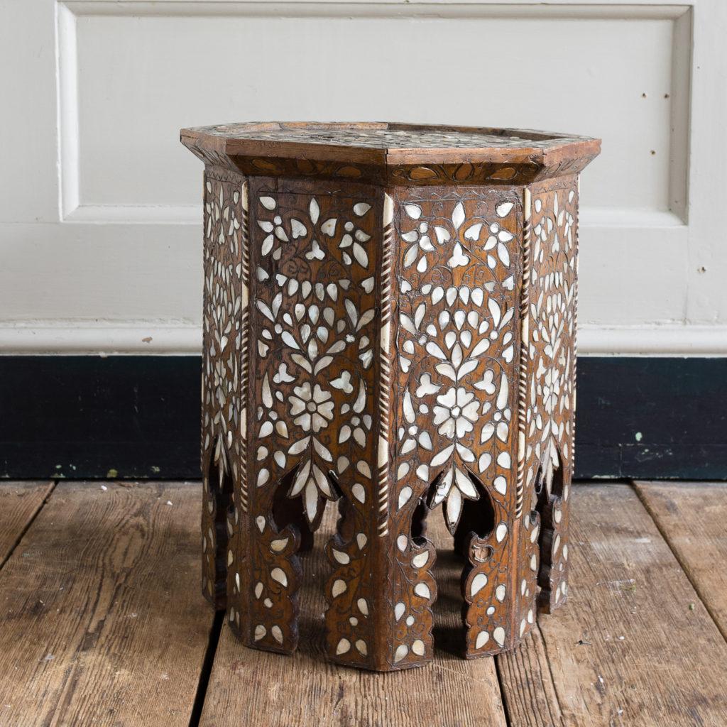 Early twentieth century Syrian octagonal occasional table,