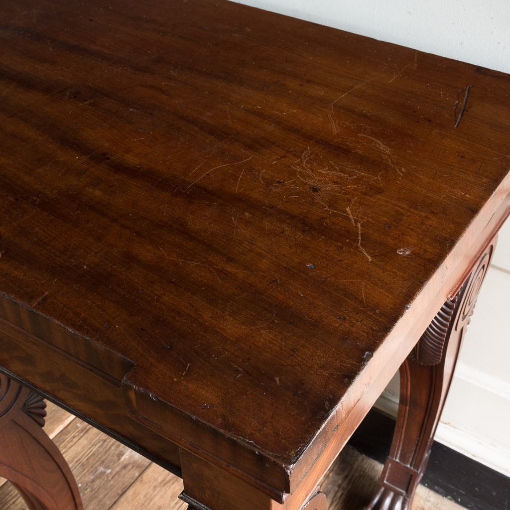 Early nineteenth century mahogany serving table, -132335