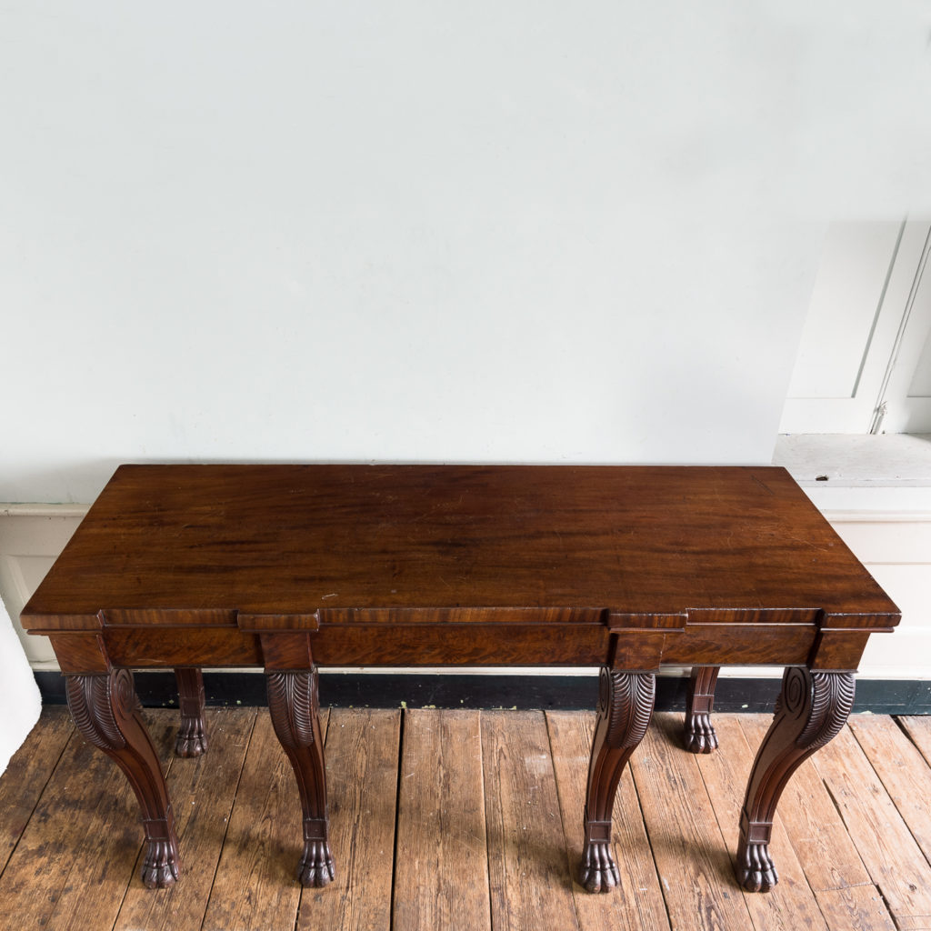 Early nineteenth century mahogany serving table,