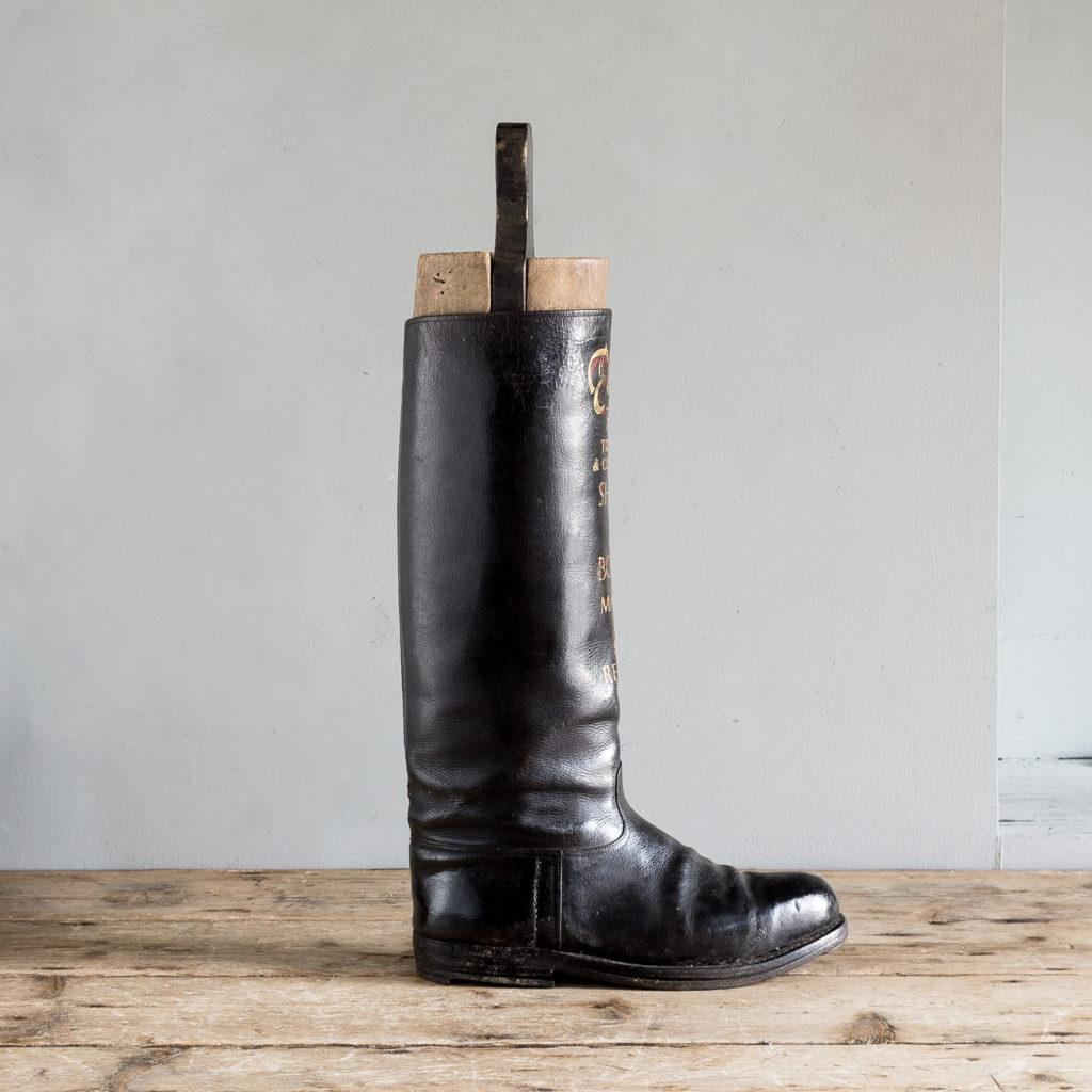 Advertising riding boot,