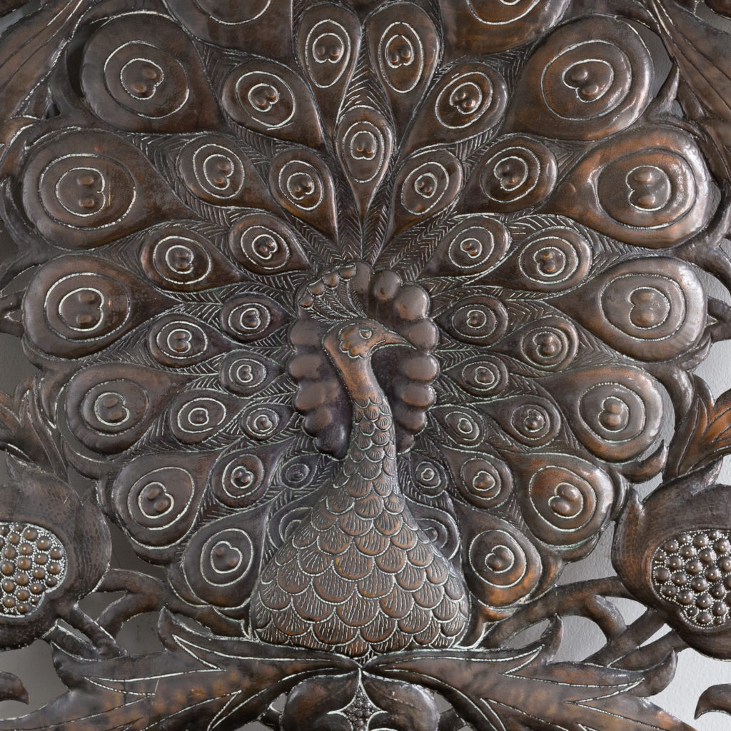Arts and Crafts copper repousse decorative panel,-132191