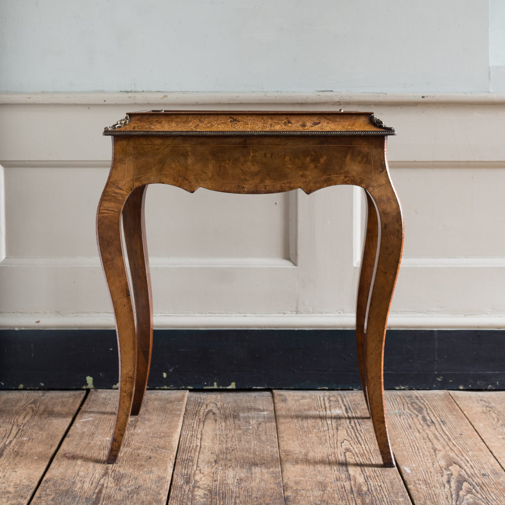 Victorian burr walnut work table,-132150