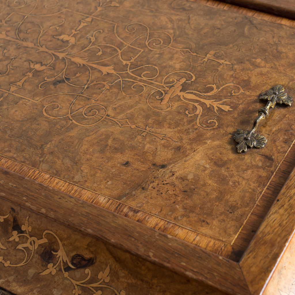 Victorian burr walnut work table,-132161