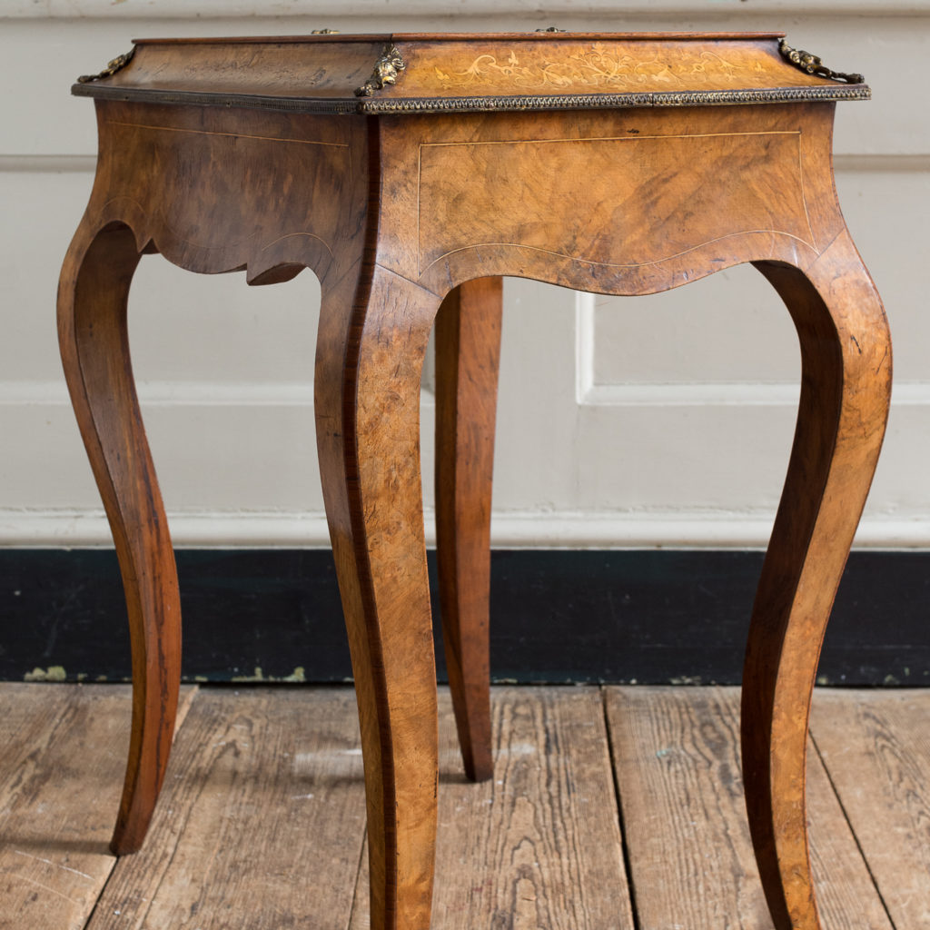 Victorian burr walnut work table,-132152