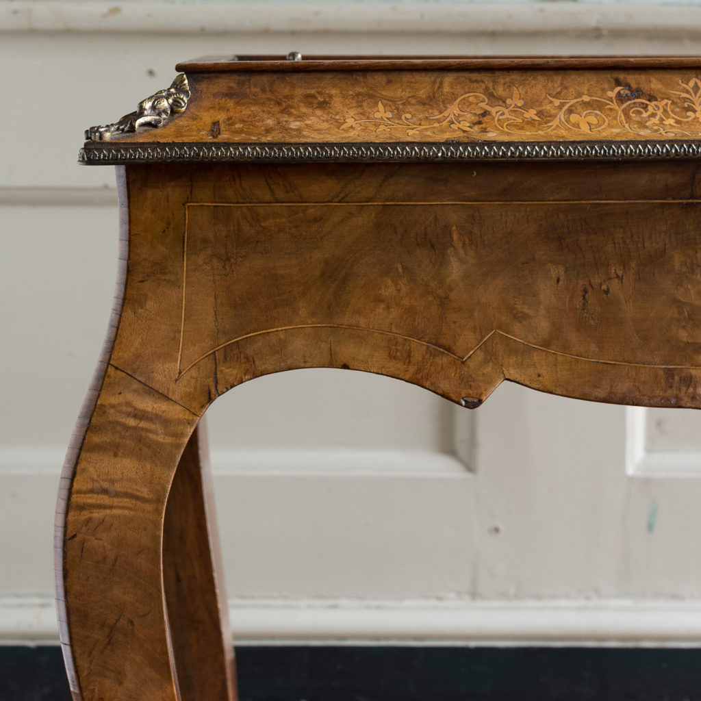 Victorian burr walnut work table,-132154