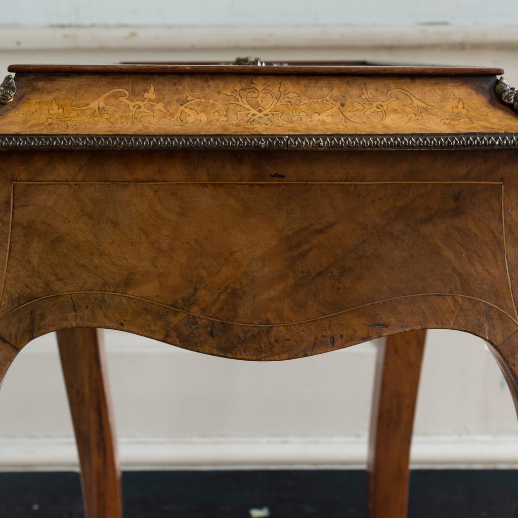 Victorian burr walnut work table,-132155