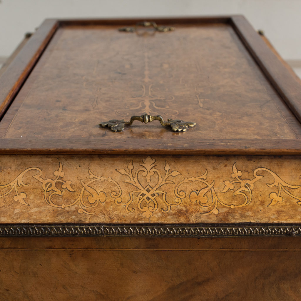 Victorian burr walnut work table,-132158
