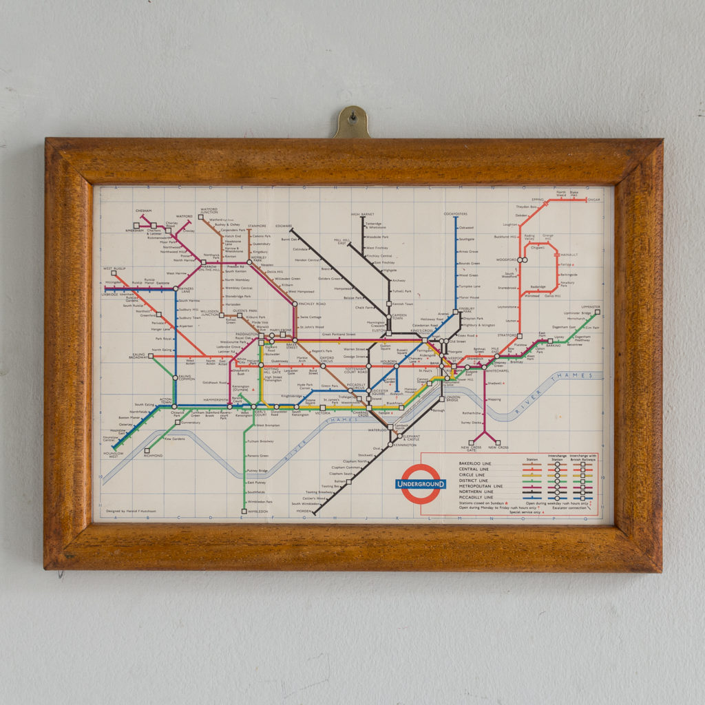 London Underground map from 1963