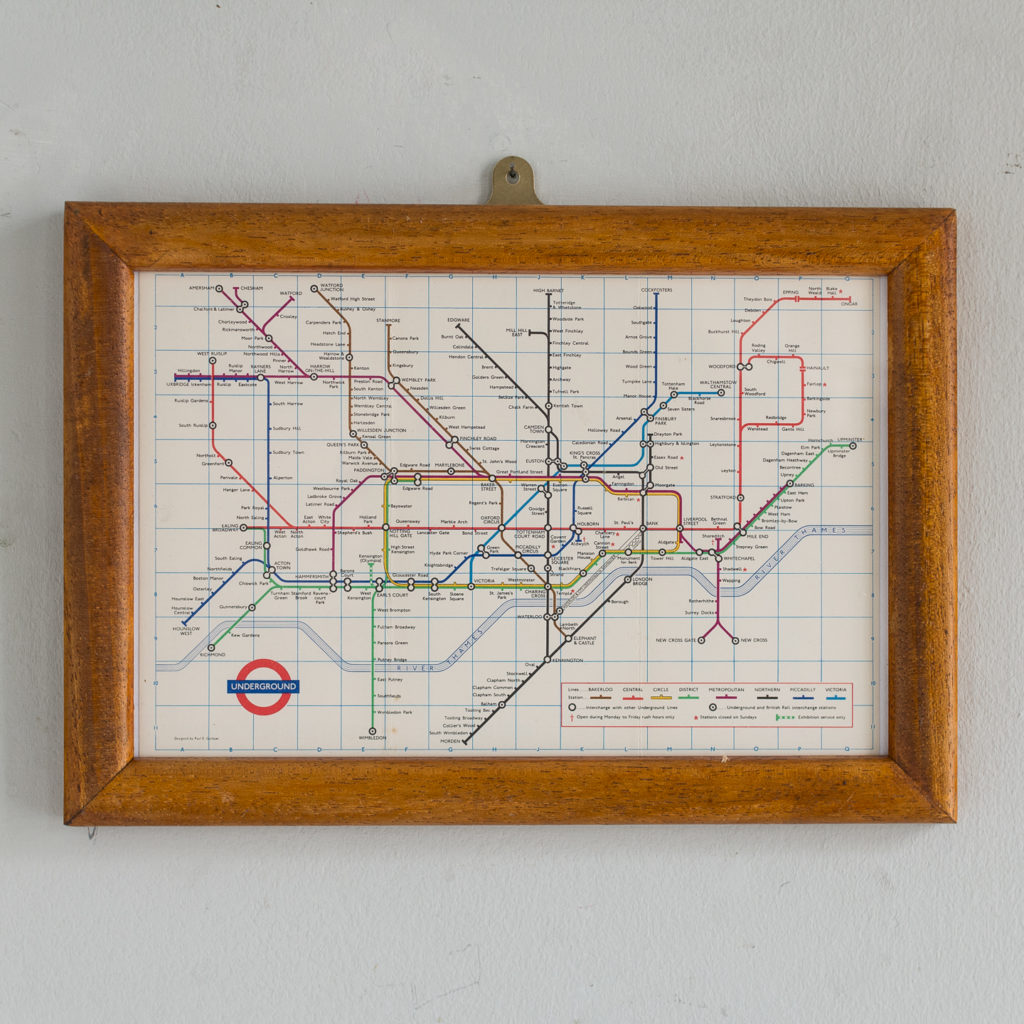London Underground map from 1969