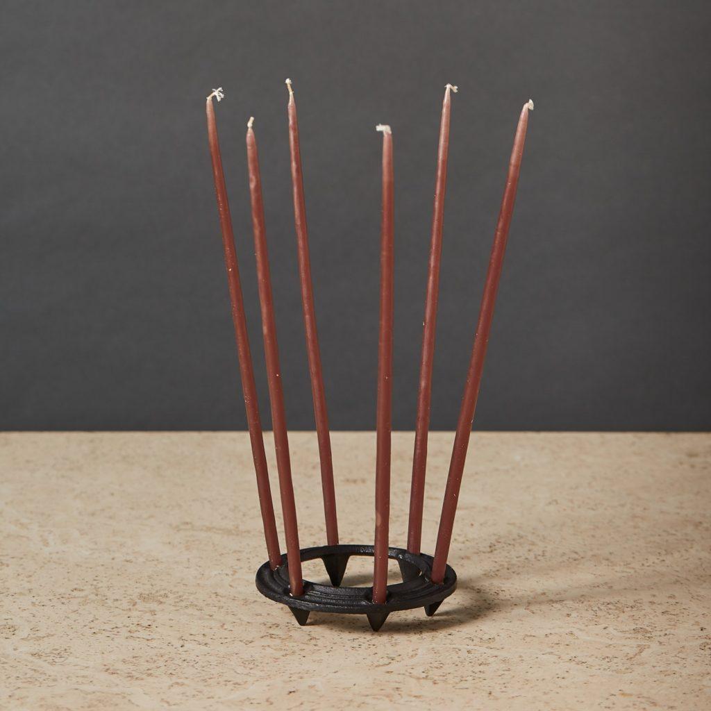 Danish iron candle holder,-132967