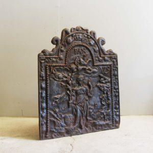 An English cast iron fireback-0