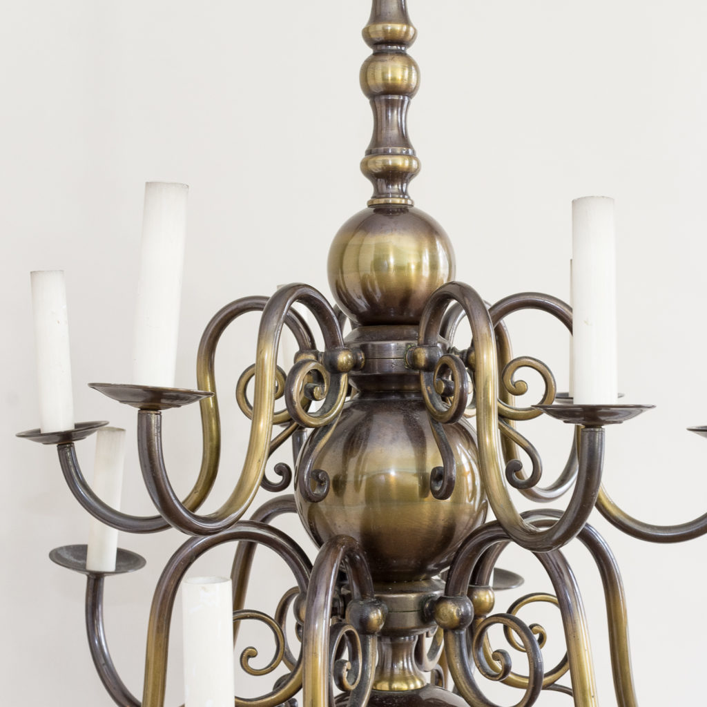 Twelve light Flemish style chandelier,-132903