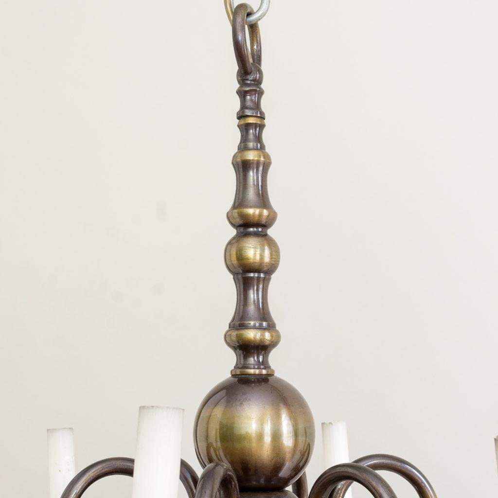 Twelve light Flemish style chandelier,-132904