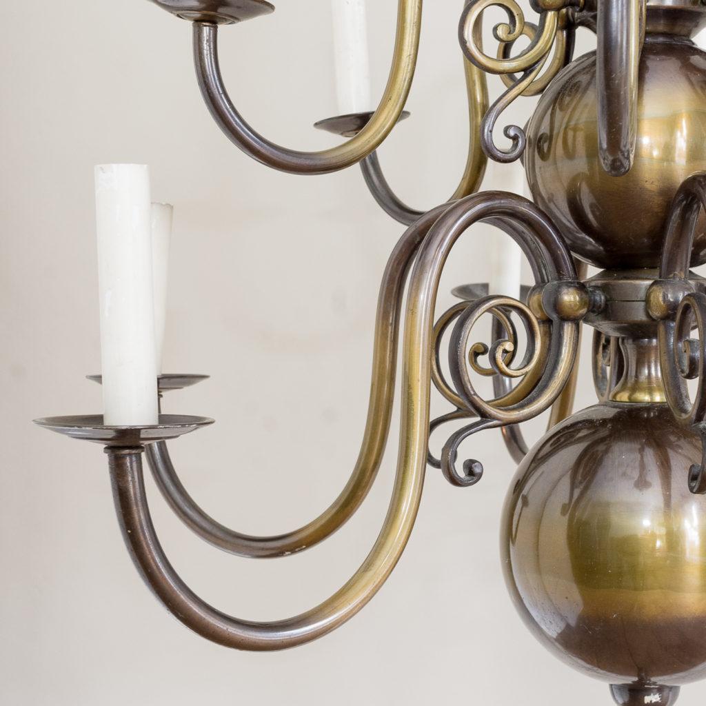 Twelve light Flemish style chandelier,-132905