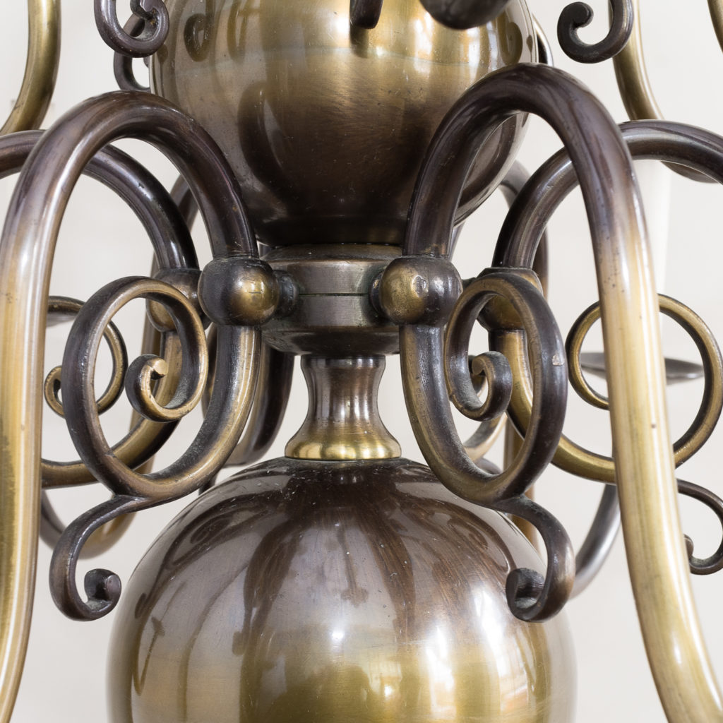 Twelve light Flemish style chandelier,-132906