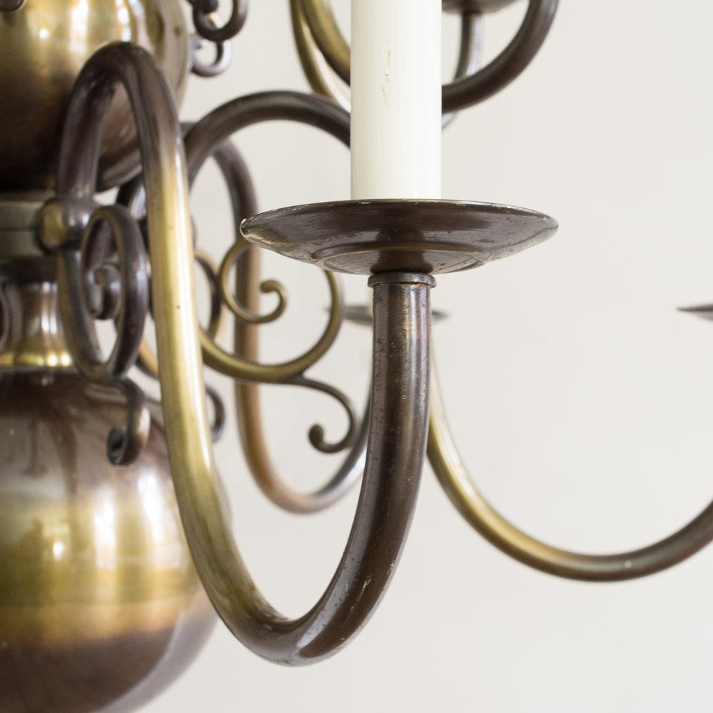 Twelve light Flemish style chandelier,-132908