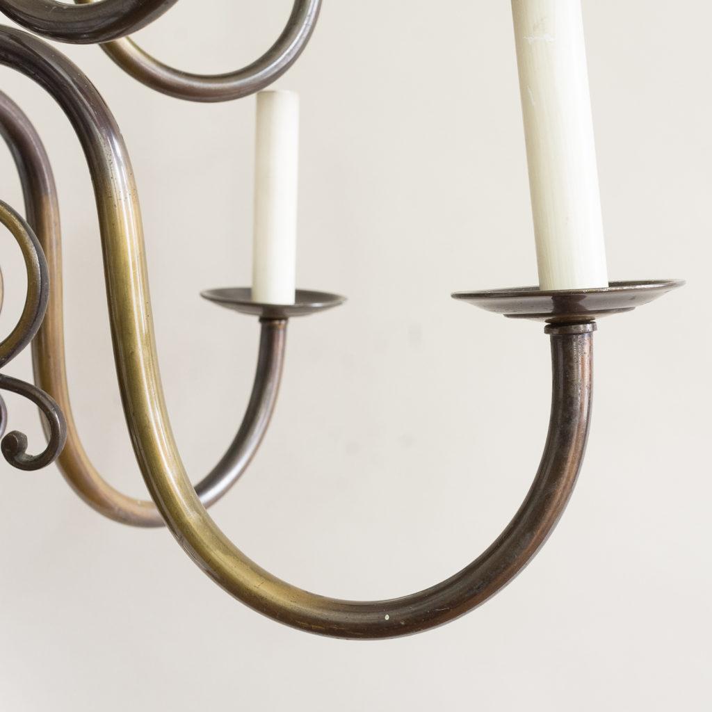 Twelve light Flemish style chandelier,-132907