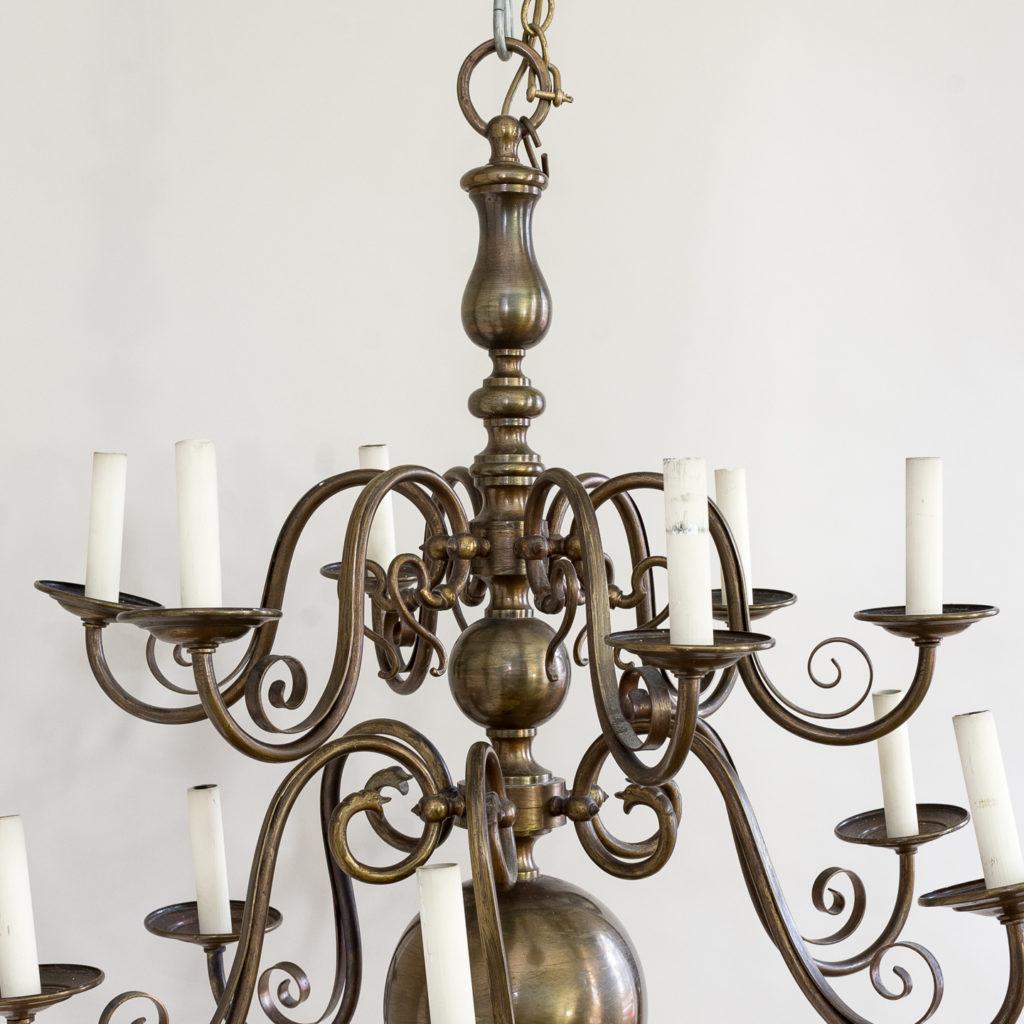 Twelve light Flemish style chandelier,-132923