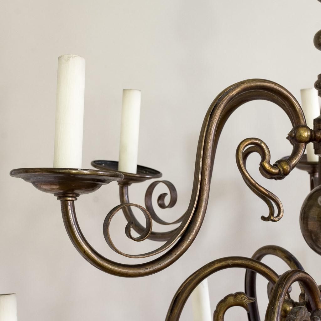 Twelve light Flemish style chandelier,-132924