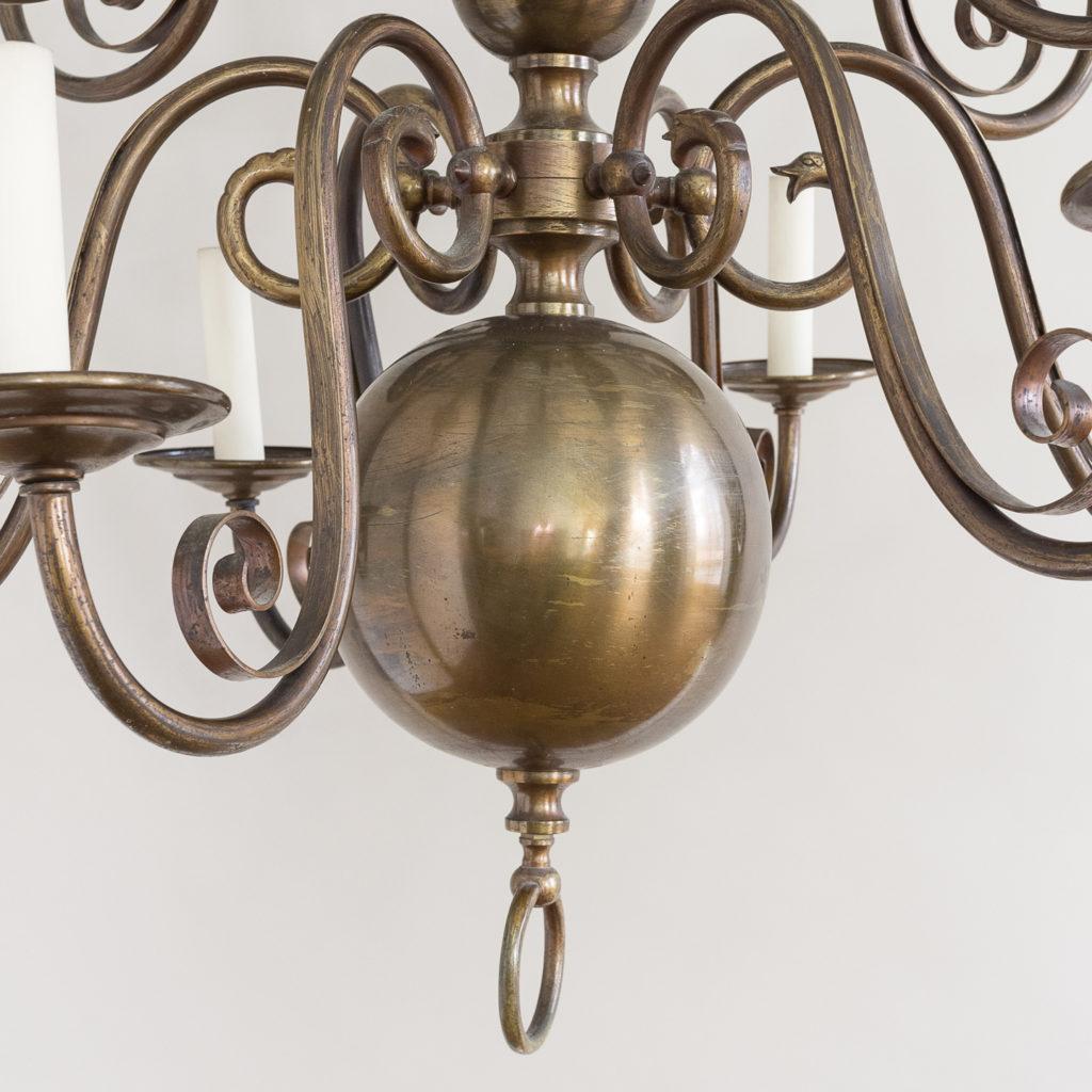 Twelve light Flemish style chandelier,-132926