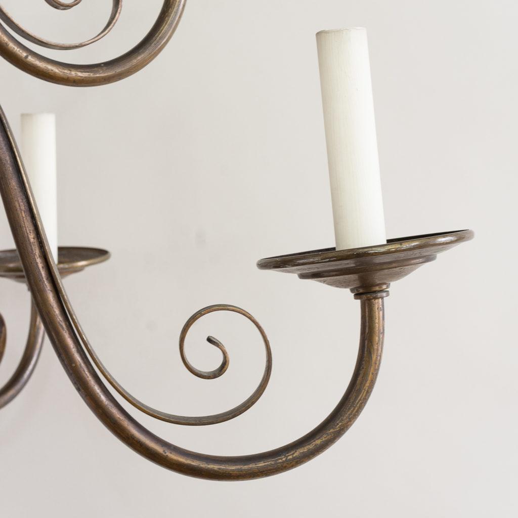 Twelve light Flemish style chandelier,-132927
