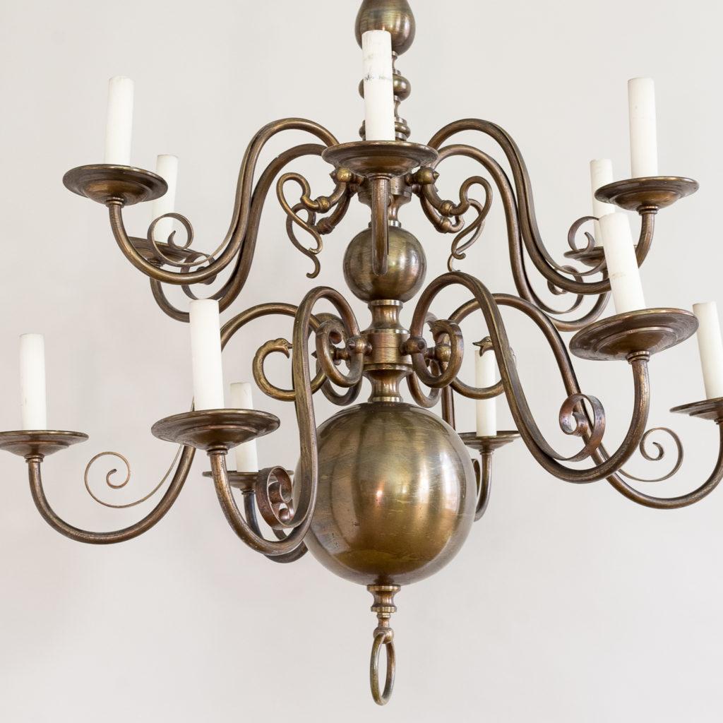 Twelve light Flemish style chandelier,-132928