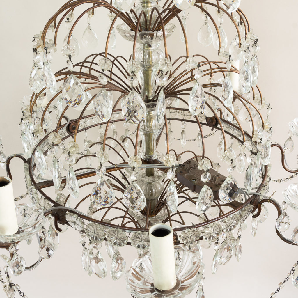 Early twentieth century Continental moulded glass chandelier,-132852