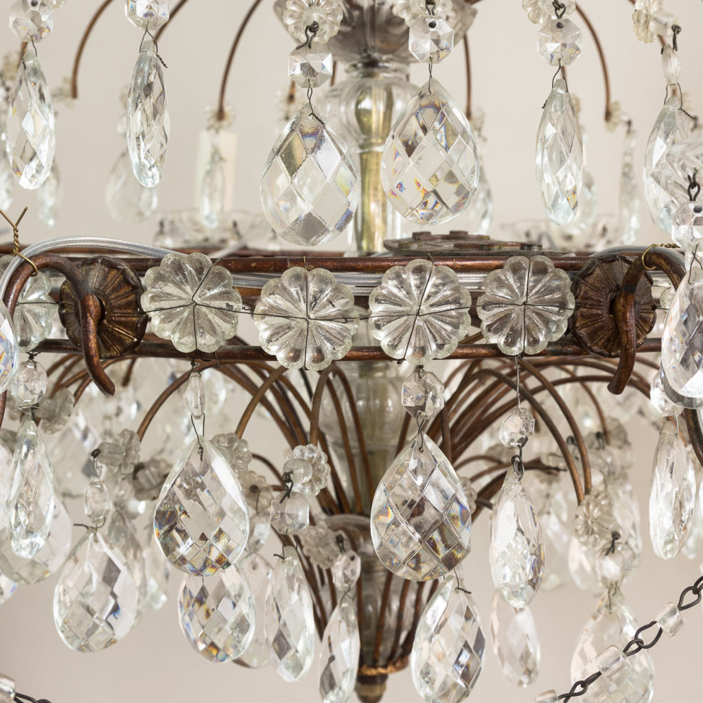 Early twentieth century Continental moulded glass chandelier,-132855