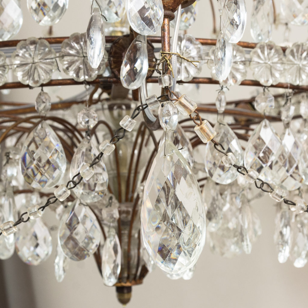 Early twentieth century Continental moulded glass chandelier,-132853