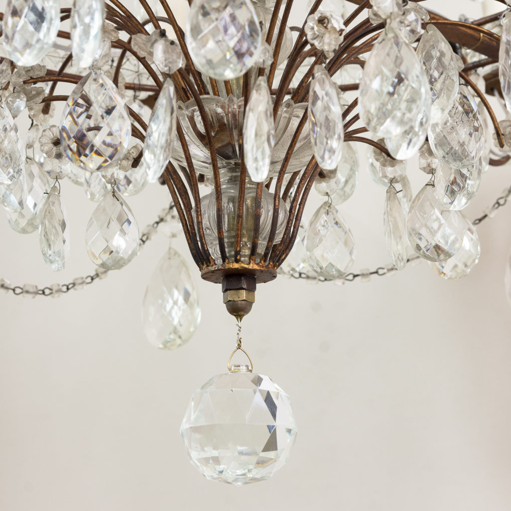 Early twentieth century Continental moulded glass chandelier,-132854