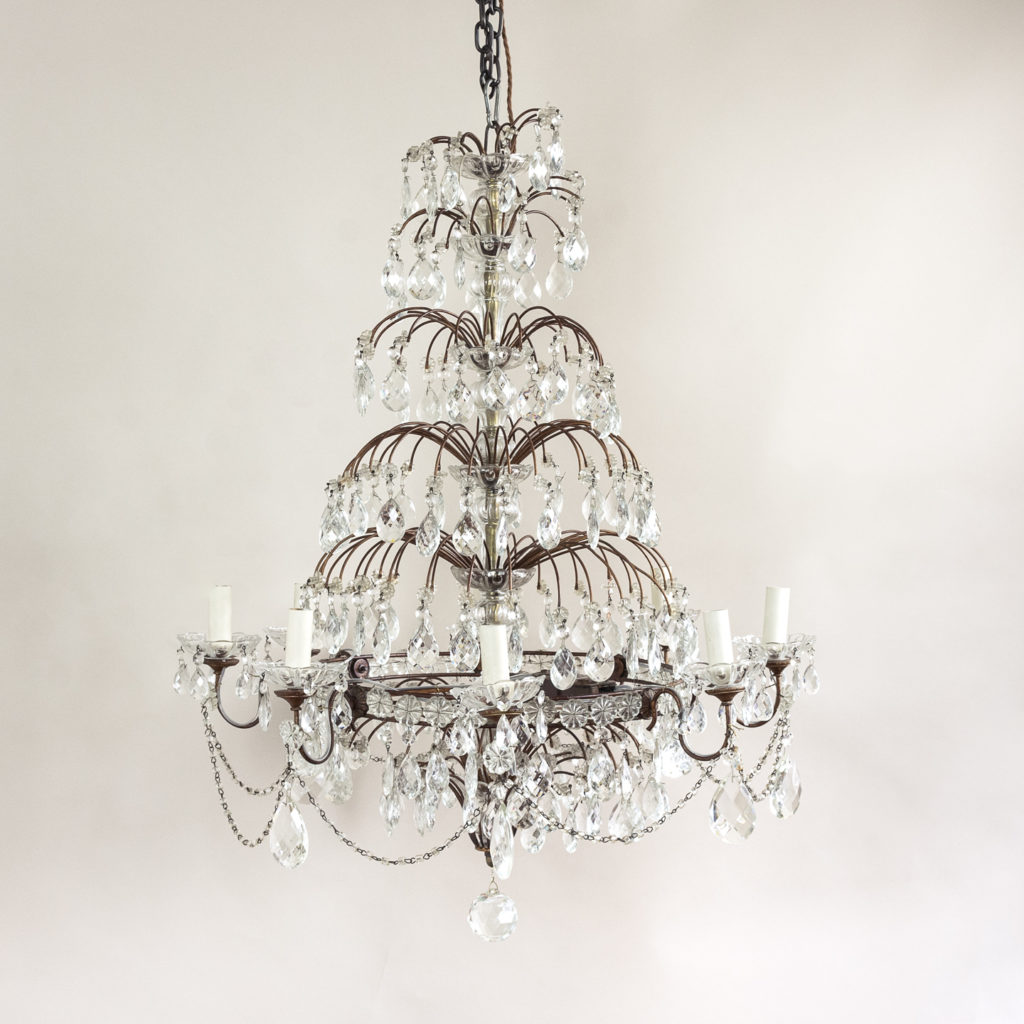 Early twentieth century Continental moulded glass chandelier,-132843