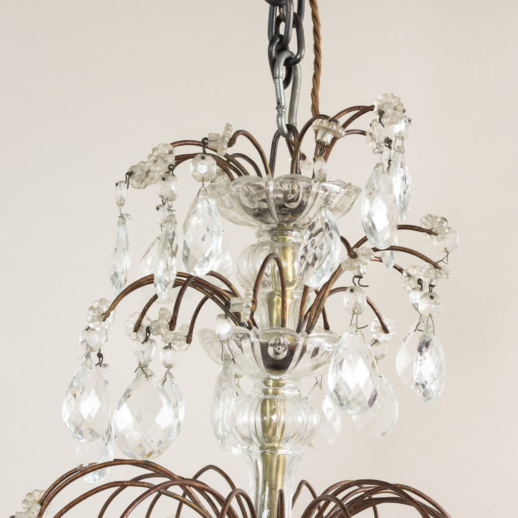 Early twentieth century Continental moulded glass chandelier,-132844