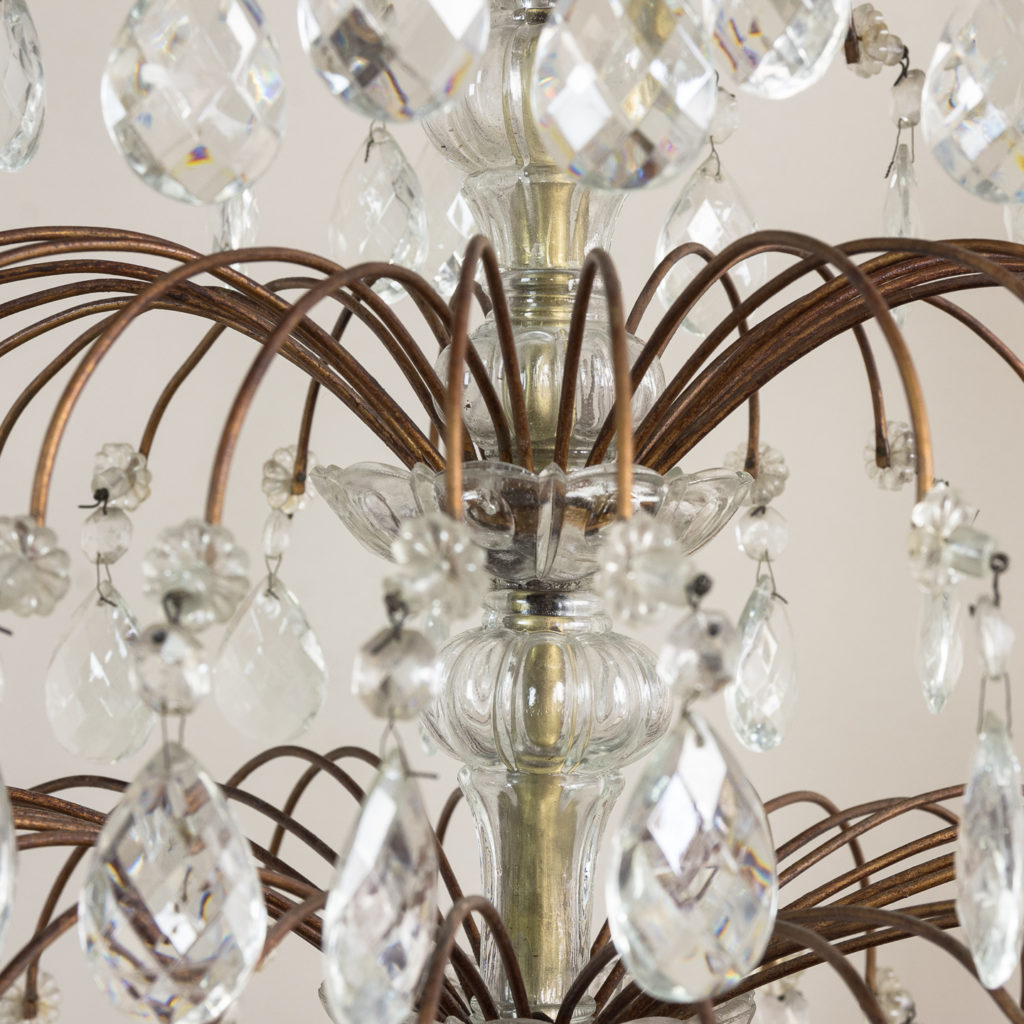 Early twentieth century Continental moulded glass chandelier,-132846