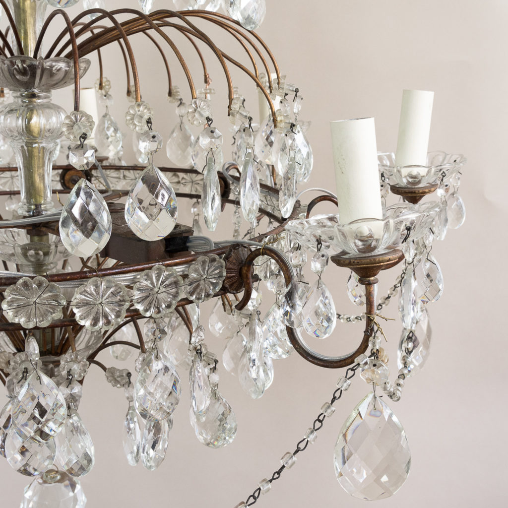 Early twentieth century Continental moulded glass chandelier,-132848