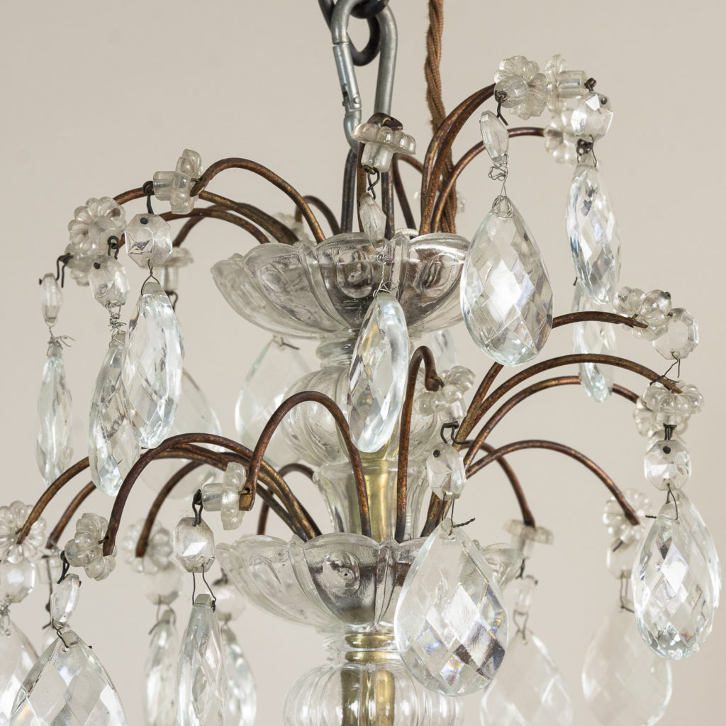 Early twentieth century Continental moulded glass chandelier,-132849